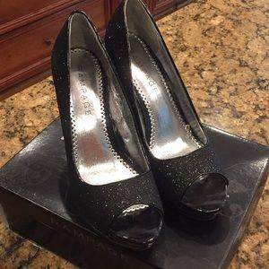 Rampage black platform heels